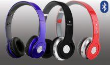 Összecsukható Prémium Bluetooth sztereó fejhallgató - Kék színben!