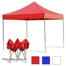 Összecsukható fém szerkezetű kerti pavilon Piros - Partykhoz, összejövetelekhez, kertbe, nyaralóba, kempinkezéshez!