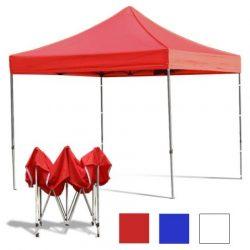 KIÁRUSÍTÁS! Összecsukható fém szerkezetű kerti pavilon Piros - Partykhoz, összejövetelekhez, kertbe, nyaralóba, kempinkezéshez!