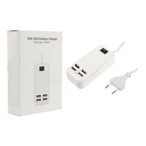 4 portos USB töltő