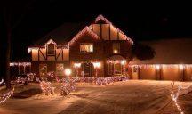 185 LED-es jégcsap karácsonyfa izzó - Hidegfehér Színben!