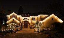 185 LED-es jégcsap karácsonyfa izzó - Melegfehér Színben!