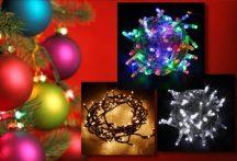 105 LED-es karácsonyi izzósor (220V) - Hidegfehér Színben!