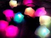 Csillagos LED Fényüzér - Színes!