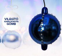 Karácsonyi világító gömb
