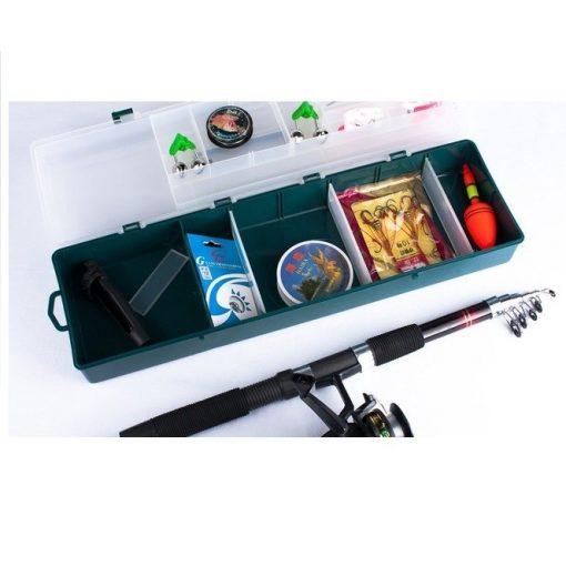 Komplett horgászfelszerelés - Horgászbottal, orsóval, teljes felszereléssel és dobozzal!