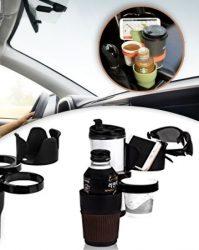 Multifunkciós 5 az 1-ben autós pohártartó - Praktikus autós tároló!