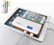 2 USB kimenetes LCD kijelzős Powerbank Monster mobil töltő 12.000 mAh - Tölts egyszerre 2 készüléket azonnal!