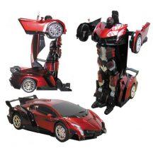 Transformer Lamborghini robotautó piros színben - Szuperhős és autó egyben!