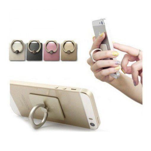 Telefontartó gyűrű (Fekete)