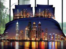 3 részes 3D ágynemű - Éjszakai város