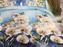 3 részes 3D ágynemű - Fehér virág