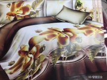 3 részes 3D ágynemű - Barna virág