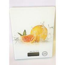 Design konyhai mérleg hőkezelt üvegfelülettel - Könnyen tisztítható!