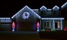 185 LED-es jégcsap karácsonyfa izzó - Kék-Fehér Színben!