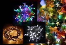 105 LED-es karácsonyi izzósor (220V) - Melegfehér Színben!