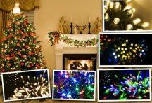 145 LED-es karácsonyi izzósor (220V) - Hidegfehér Színben!