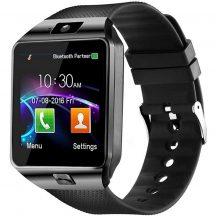 Prémium Android okosóra kamerával és SIM kártya hellyel, Fekete - Használható telefonként is!