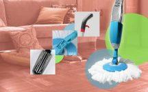 Mikroszálas felmosó beépített mosószertartállyal - A könnyed és foltmentes takarításért!
