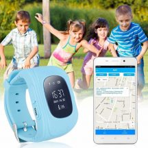 GPS NYOMKÖVETŐS GYERMEK OKOSÓRA - Tudd gyermekeidet Mindig Biztonságban! (kék)