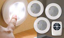 Távirányítós LED lámpa 3db-os