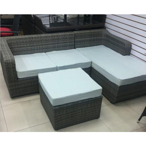 RATTAN Bútor (L alakú- Szürke)