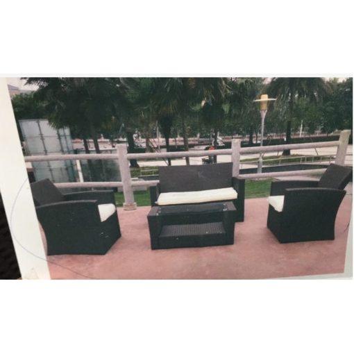 RATTAN Bútor (Fotel+üvegasztal)