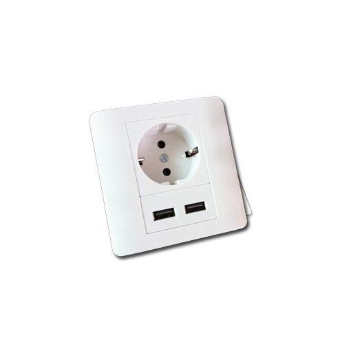 USB-s falba szerelhető konnektor aljzat