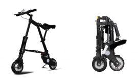 Összecsukható kerékpár (Fekete)