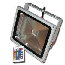 TÁVIRÁNYÍTÓS RGB LED REFLEKTOR 30W-os - Homlokzatok látványos megvilágítására!