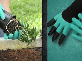 Kertész kesztyű ásókarmokkal - Nagy segítség a munkában!