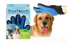 True Touch kisállat szőrápoló kesztyű