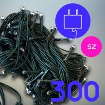 300 LED karácsonyfa izzó - színes