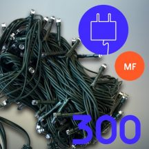 300 LED karácsonyfa izzó - melegfehér (VRE-9#)