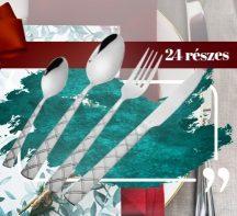 24 részes Stylish Evőeszköz készlet rozsdamentes acélból - Dobd fel a konyhád!