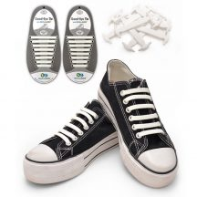 Szilikon cipőfűző - fehér
