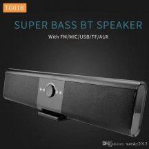 SOUNDBAR Bluetooth Hangprojektor (Fekete) - Nagy teljesítményű akkumulátorral, rádióval, USB +microSD!