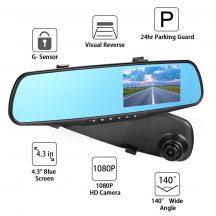 Visszapillantó tükörbe épített Full HD autós menetfelvevő kamera Magyar Menüvel - Elengedhetetlen kellék minden gépjárműbe!