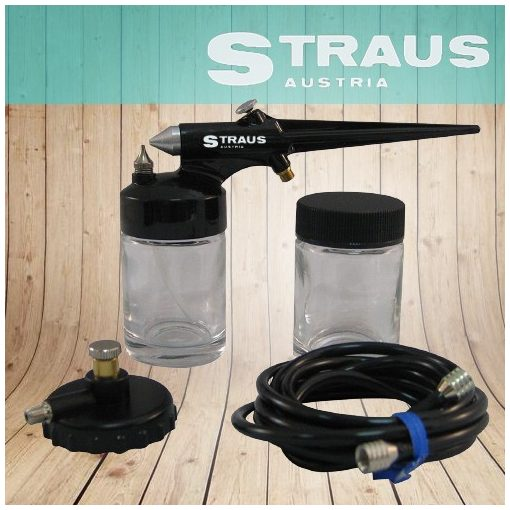 Straus Austria 5db-os Airbrush szett - Precíz festési munkákhoz vagy díszítésekhez!
