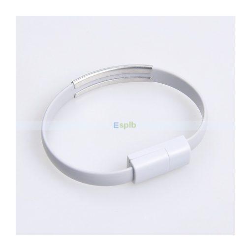 Adatkábel karkötő (Iphone) Fehér
