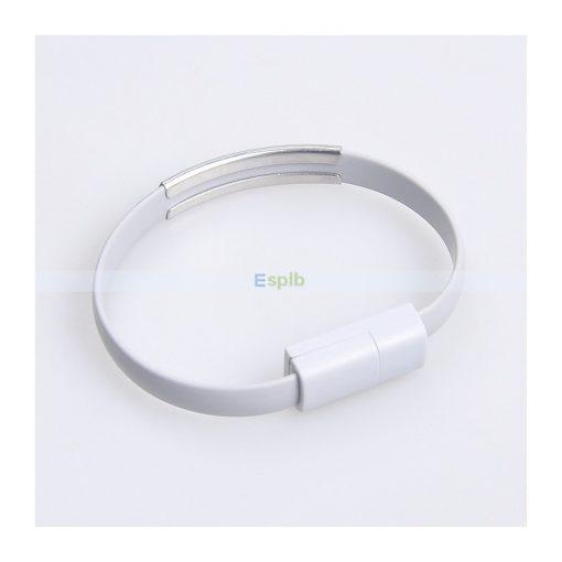 Adatkábel karkötő (Iphone) Szürke
