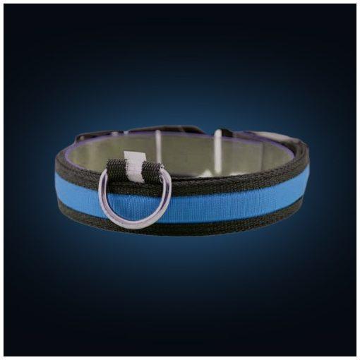 LED világító kutya nyakörv (Kék)