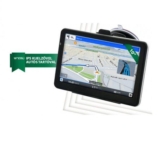 GIGA KIJELZŐS 10 COLOS TABLET ÉS GPS EGYBEN - IPS kijelző, GPS vevő, Bluetooth, Dual SIM!