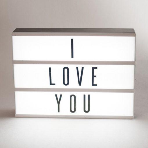 LED Cinema Lightbox világító szövegdoboz