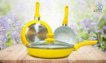 Ceramic Pan 4 részes Kerámiabevonatos Serpenyő Készlet - Főzz és Élj egészségesen!