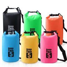 Dry Bag felakasztható, vízálló táska (5L - 18x35cm) - Kék