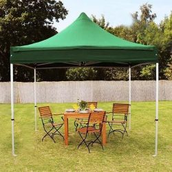 Összecsukható fém szerkezetű kerti pavilon Zöld - Partykhoz, összejövetelekhez, kertbe, nyaralóba, kempinkezéshez!