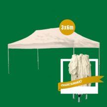 GIGA Méretű összecsukható fém szerkezetű Kerti Pavilon - Partykhoz, összejövetelekhez, kempinkezéshez, kertbe, nyaralóba!