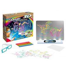 Mágikus 3D-s Rajztábla - Rajzolj valamit, vedd fel a 3D-s szemüveget, élvezd a látványt!