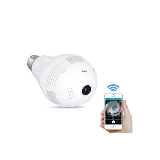 3D Panorámás Izzónak Álcázott Kamera - Csak be kell csavarni egy foglalatba és csatlakoztatni WiFi-n keresztül!